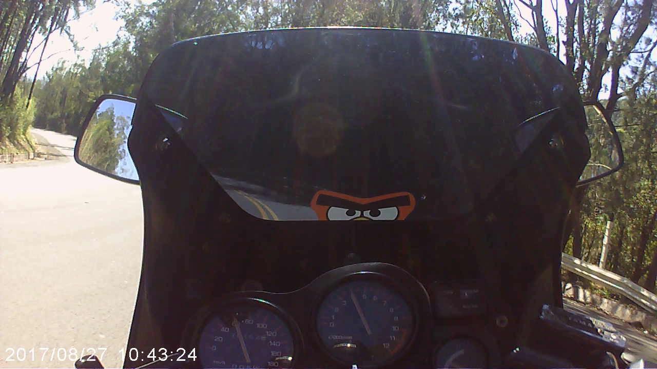 Luck Harold, Adriana, RD350R e família saindo de Serra Negra curvas e mais curvas