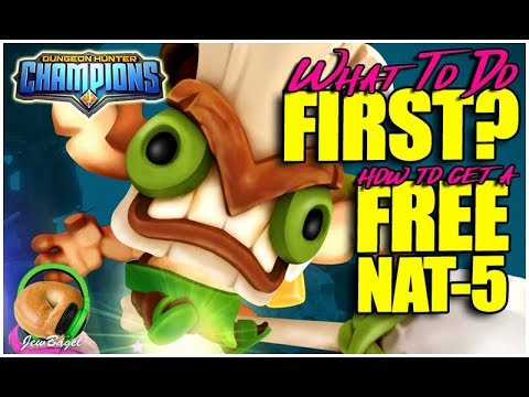 DUNGEON HUNTER CHAMPIONS : What To Do FIRST, And How To Get Your FREE NAT 5 Champion!