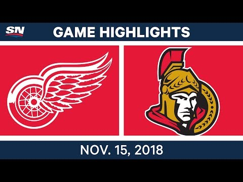 NHL Highlights | Red Wings vs. Senators – Nov. 15, 2018
