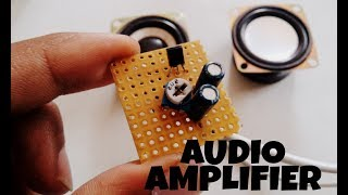 Audio amplifier BC548 | using one transistor | Crystal clear sound.