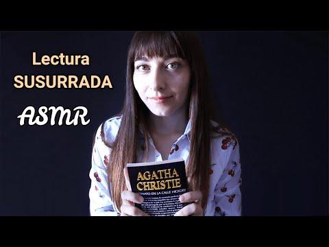 ASMR   Lectura Susurrada para RELAJARSE y DORMIR😴 Detective Agatha Christie   en Español