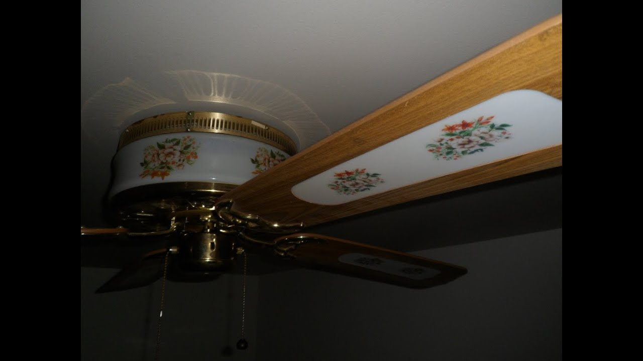 52 Quot Montgomery Ward Evergo Floral Hugger Ceiling Fan