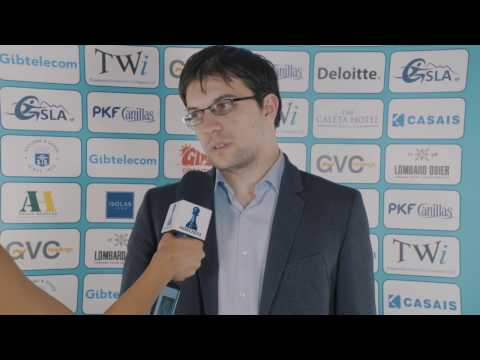 Round 8 Gibraltar Chess post-game interview with MVL