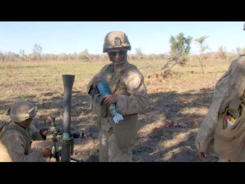 U.S. Marines Conduct Fire Support With Mortars