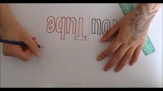 how to draw Youtube logo