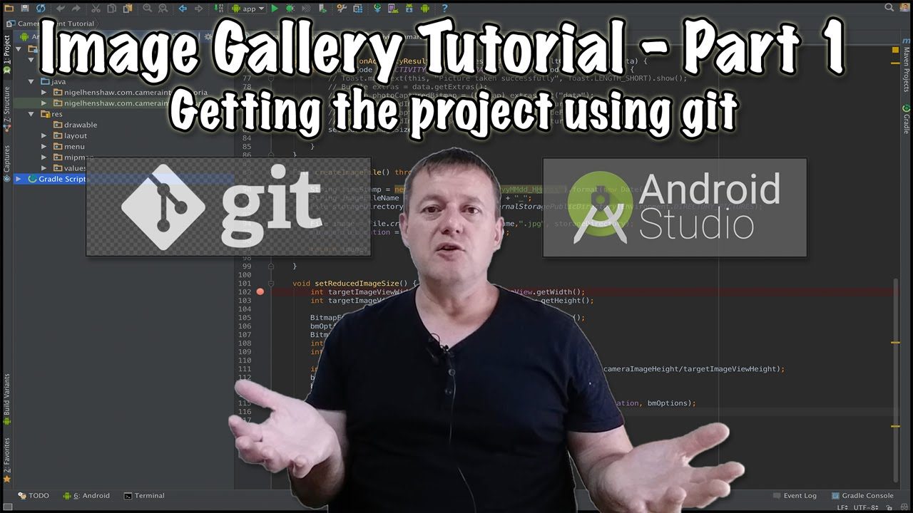 Video tutorial series on how to create an android image gallery.