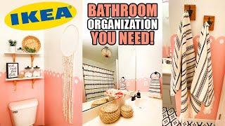 IKEA Bathroom Organization Ideas 2020