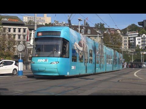 Tram Zürich - Strassenbahn Zürich 2014