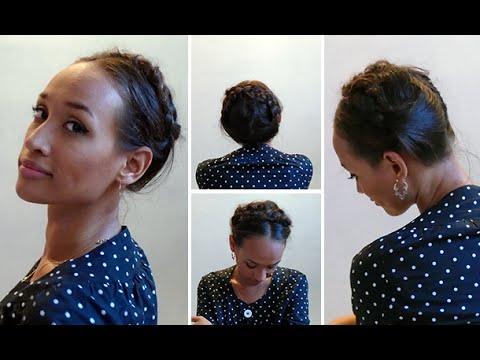 Trança coroa/leiteira por Bela Almeida (Penteado fácil para cabelo cacheado curto) - Medusa Moderna