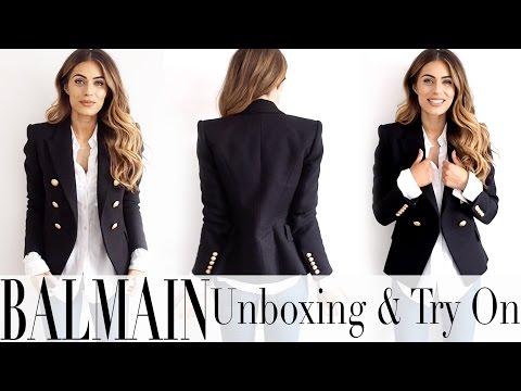 BALMAIN BLAZER UNBOXING + TRY ON | Lydia Elise Millen