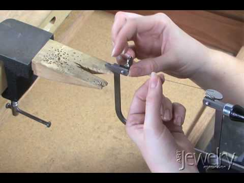 Art jewelry threading a blade in a saw frame youtube art jewelry threading a blade in a saw frame keyboard keysfo Image collections