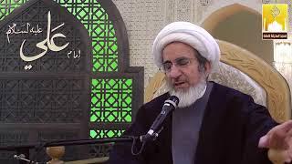 الشيخ حبيب الكاظمي - السيدة زينب عليها السلام صلت جلوس أثناء المسير إلى الشام بسبب الجوع والتعب
