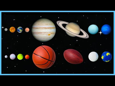 Planet Sizes Sport Balls   Solar System Comparison   Planets Comparison   Planets for Kids   Planets