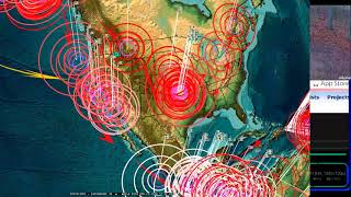 4/23/2018 -- Earthquakes strike SEVERAL warned locations -- English Channel to California