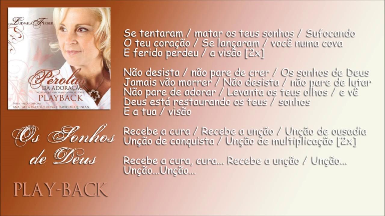 Os Sonhos De Deus [Playback] Ludmila Ferber