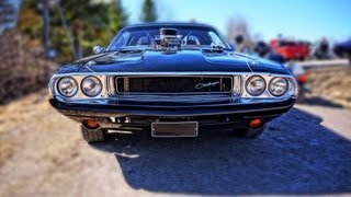 772hp Custom 1970 Dodge Challenger w/ widest rear tires ever!! V8 SOUND!