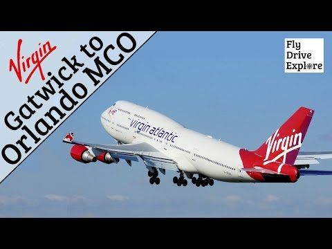 Virgin Atlantic Economy Class - London Gatwick to Orlando