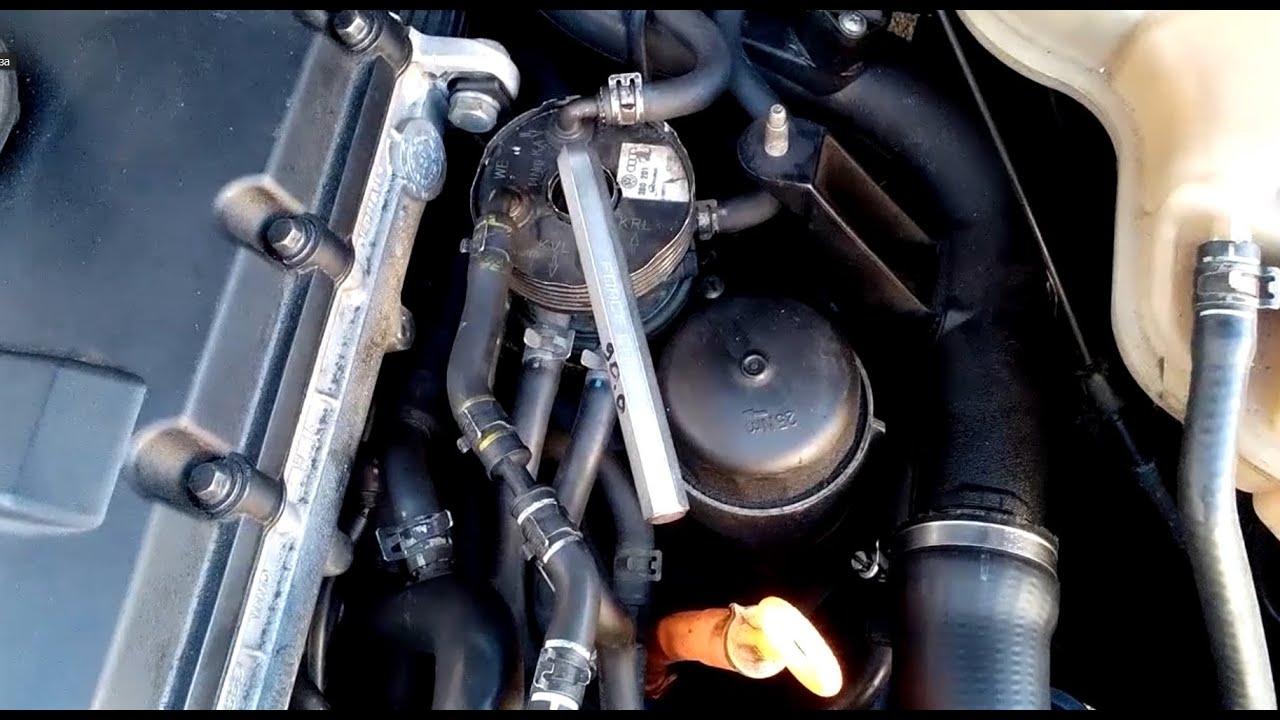 замена топливного фильтра skoda octavia дизель