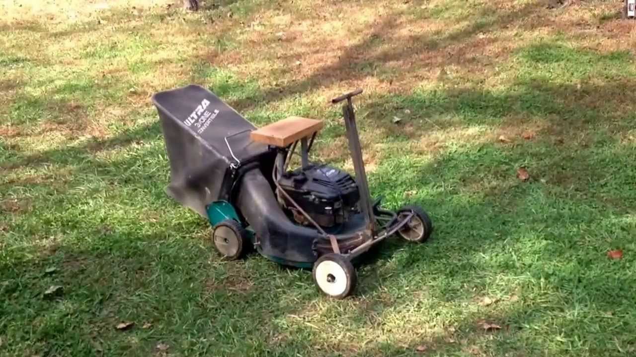 Home Made Mini Riding Mower 5 5 Hp Youtube