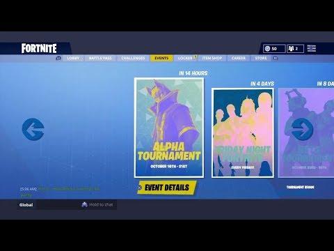 Alpha Tournament Event | First Ever Tournament Event on Fortnite