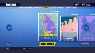 Fortnite Alpha Tournament Event - First Ever Fortnite Tournament Event