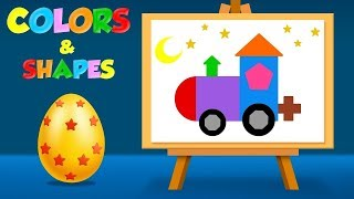 Learn Colors and Shapes with Coloring Pages - Colouring pages for Children