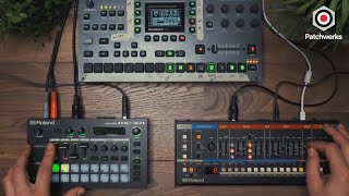 Roland MC-101, JU-06A, and Octatrack MK2 performance at Patchwerks