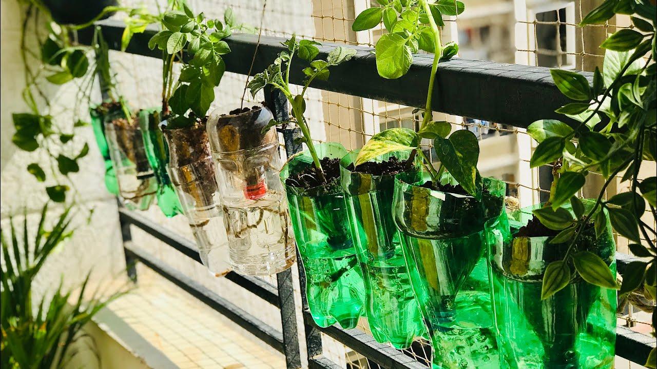 Amazing Plastic Bottle Vertical Garden Ideas For Home Small Balcony Garden Ideas Diy Garden Youtube
