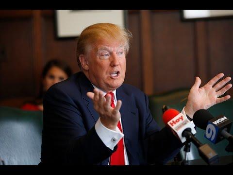 Donald Trump discusses Presidential run with Tribune editorial board