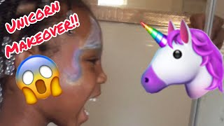 Rayah Gets a UNICORN 🦄🦄 Makeover!!😱😂