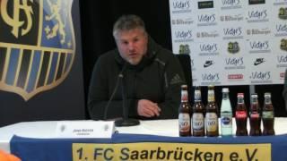 1. FC Saarbrücken - FC 08 Homburg  Pressekonferenz nach dem Spiel   Saarlandpokal Halbfinale 16/17