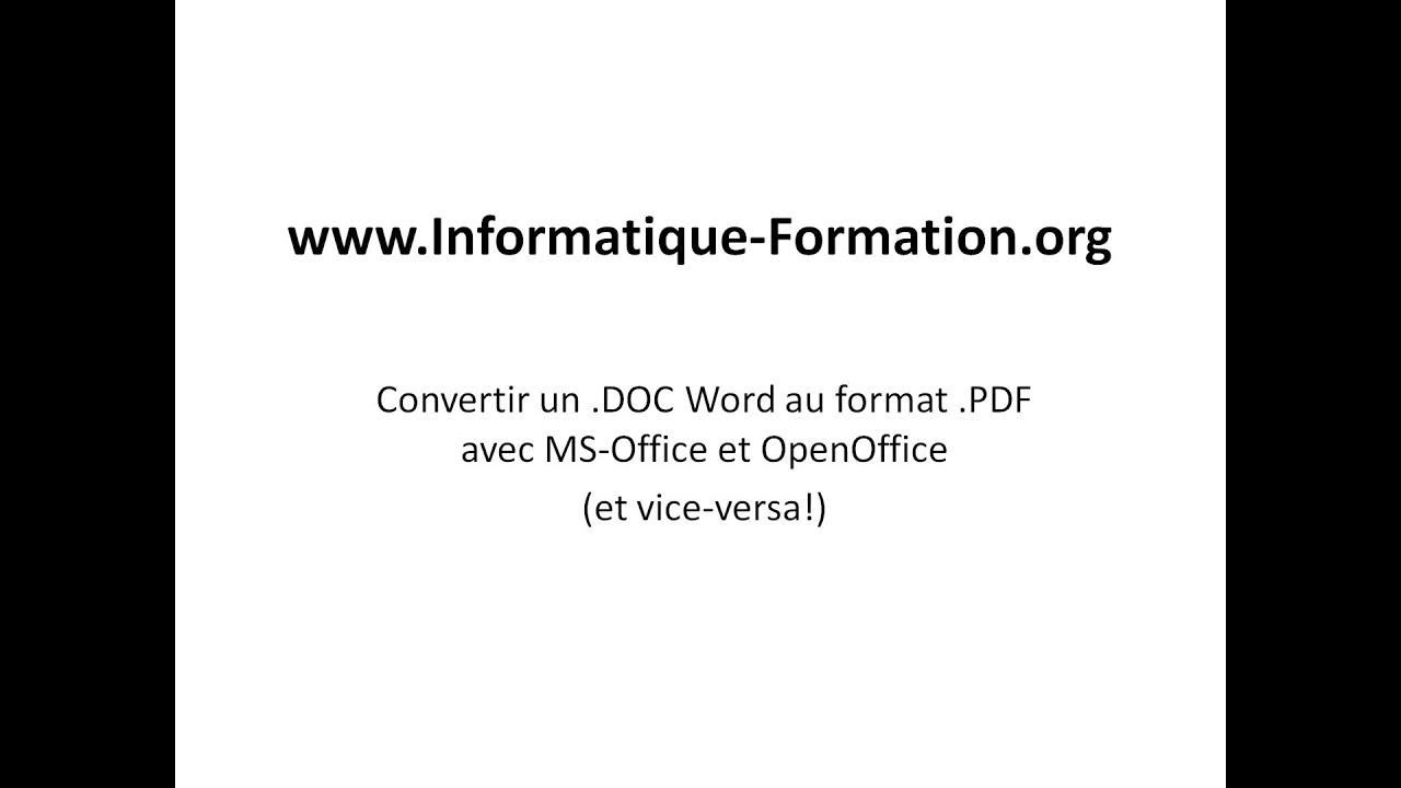 convertir un doc en pdf  et un pdf en doc  avec microsoft