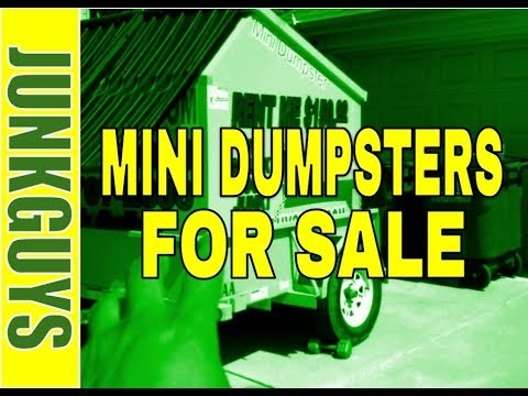 MINI DUMPSTERS NOW FOR SALE   /  dfwjunkguys.com