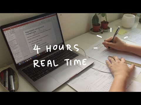 4 Hour Study With Me | No Music, Real Time