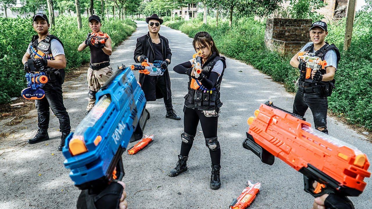 LTT Nerf War : SEAL X Warriors Nerf Guns Fight Snipers Dr Ken Crazy Dangerous Mercenary Gangs