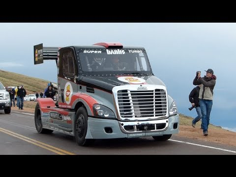 Pikes Peak Super Turbo Semi Freightliner Race Truck Explained