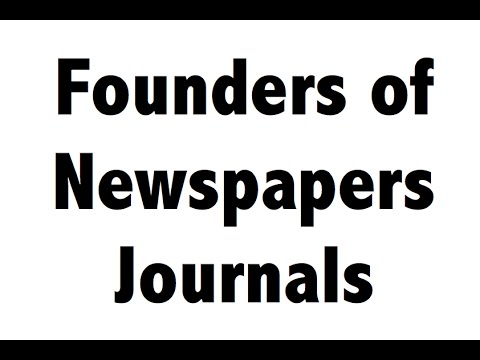 Newspapers & Founders - Static GK