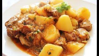 Жаркое с кроликом и картофелем Блюдо как и в будни, так и в праздник