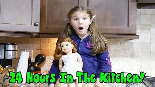 24 Hours In The Kitchen! Halloween Edition! 24 Hours With No Lol Dolls
