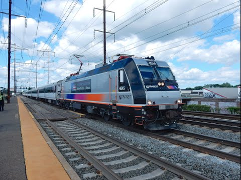 Railfan on the NEC at Jersey Avenue