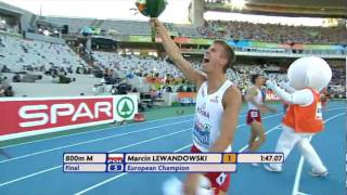 Marcin Lewandowski Wins Mens 800m in European Athletics Championships 2010