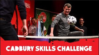 Roy Keane & Gary Neville play Hurling, Cricket and Foot Tennis | Cadbury Skills Challenge