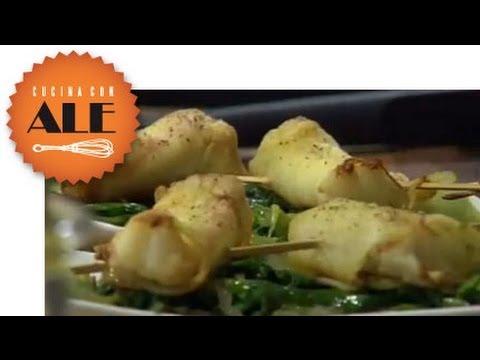 cucina con ale spiedini di scampi ricetta youtube