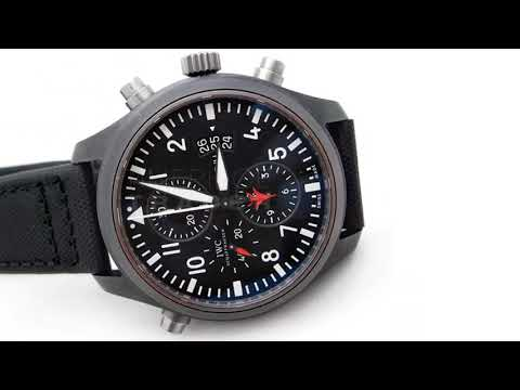 IW379901 IWC TOP GUN Pilots Classic Doppel Chronograph Split Second IW3799-01