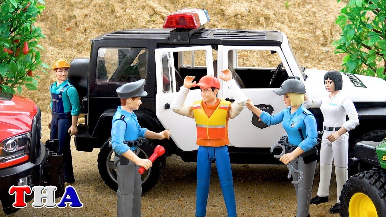 รถตำรวจเรื่องราว - รถของเล่นเด็ก