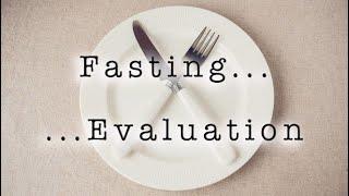 Fasting   eval