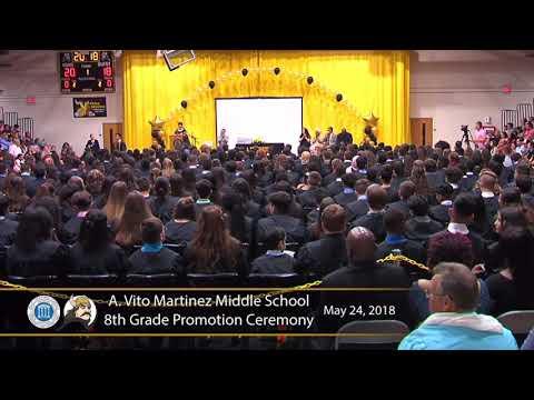Student Speaker Alexa Diaz in the A Vito Martinez Middle School Promotion Ceremony