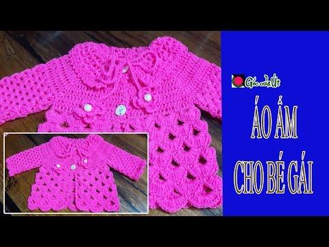 Góc của Út - Hướng dẫn móc len cơ bản - Crochet : Áo ấm cho bé gái
