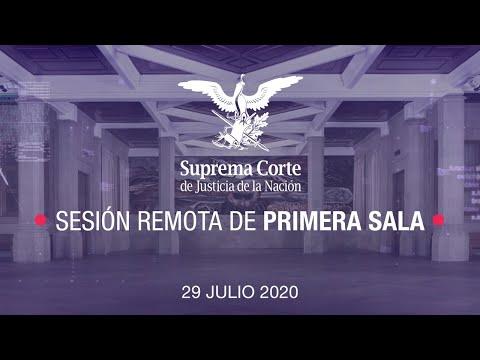Sesión Remota de Primera Sala de la SCJN - 29 julio 2020