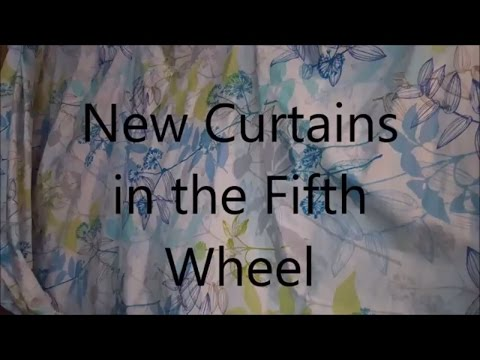 Vlog:  New Curtains for the RV